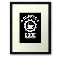 Programmer : Coffee and Code Framed Print