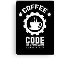 Programmer : Coffee and Code Canvas Print
