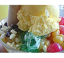 Native halo-halo on a cold Sunday ... Photographic Print
