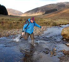 Fording the stream at Manor Valley by rosie320d