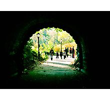 Fall in central park Photographic Print