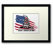 Gadsden Flag Don't Tread On Me Shirt, Cases, Stickers, Pillow, Posters, Cards Framed Print