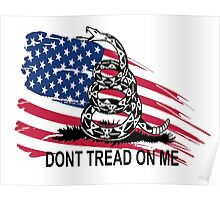 Gadsden Flag Don't Tread On Me Shirt, Cases, Stickers, Pillow, Posters, Cards Poster
