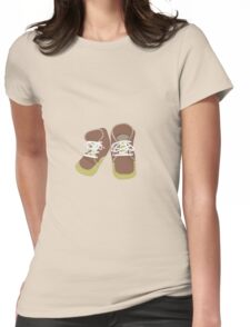 Brown Baby Shoes Womens Fitted T-Shirt