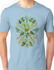 Tropical Symmetry – Olive Green Unisex T-Shirt