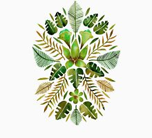 Tropical Symmetry – Olive Green T-Shirt