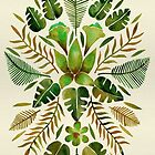 Tropical Symmetry – Olive Green by Cat Coquillette