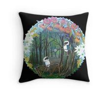 KOOKABURRA'S & AUSTRALIAN NATIVE FLOWERS ☮ Throw Pillow