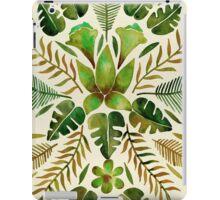 Tropical Symmetry – Olive Green iPad Case/Skin