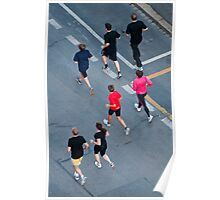 Joggers seen from above Poster