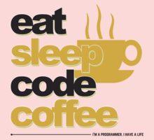Programmer : eat, sleep, code, coffee Kids Tee