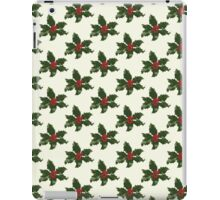Holly Leaves Pattern Print iPad Case/Skin