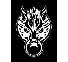 Cloud Strife's Wolf Emblem (White) Photographic Print