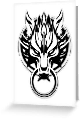 Cloud Strife's Wolf Emblem (Black) by Prime-Omega