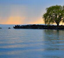 On shore of Lake Erie by jdgeier