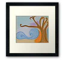 oil and wine Framed Print
