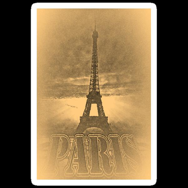 Vintage Eiffel Tower Paris #1 T-shirt by Nhan Ngo