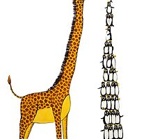 Who is Taller Unicorn Giraffe or Penguin? by Jean Rim