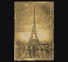 Vintage Eiffel Tower Paris #3 T-shirt by Nhan Ngo