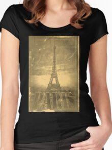 Vintage Eiffel Tower Paris #3 T-shirt Women's Fitted Scoop T-Shirt