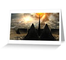 Star Temple Pyramid - Convergence Greeting Card