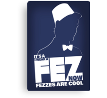 Fezzes are Poster Size Canvas Print