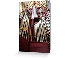 Organ at St Giles Cathedral Edinburgh Greeting Card