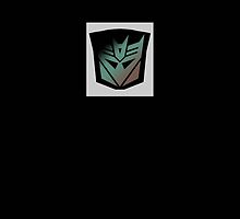 Transformers - Decepticon Rubsign iPhone Case (Black) by deadbunneh _