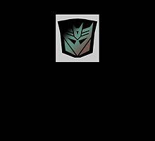 Transformers - Decepticon Rubsign iPhone Case (Black) by Dave Brogden