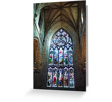 Stain Glass Window - St Giles Cathedral  Greeting Card