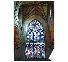 Stain Glass Window - St Giles Cathedral  Poster