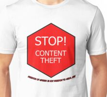 Stop Content Theft T-Shirt