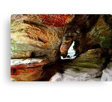Rock Cave Canvas Print