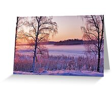 Frozen lilac Greeting Card