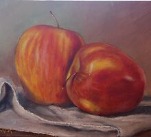 Apples on a Towel by Jeff Jackson