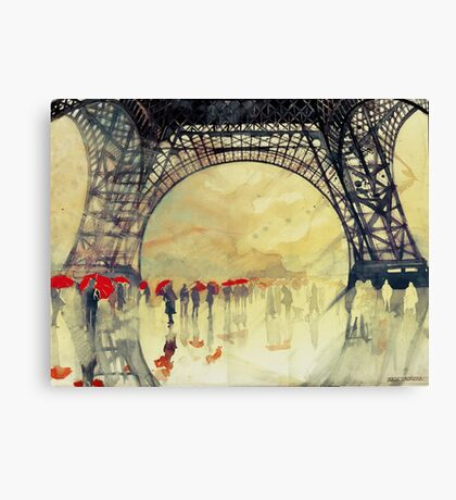 Under the Eiffel Tower Canvas Print