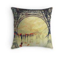 Under the Eiffel Tower Throw Pillow