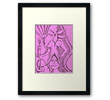 plungeing in pink perfection Framed Print