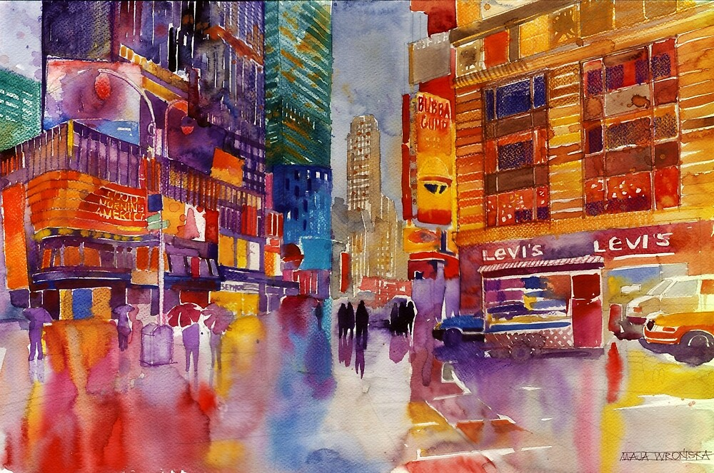 Walk in New York by Maja Wrońska