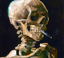 Head of a Skeleton with Lit Cigarette - Vincent van Gogh by b-alien