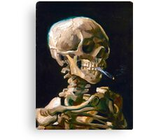 Head of a Skeleton with Lit Cigarette - Vincent van Gogh Canvas Print