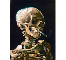 Head of a Skeleton with Lit Cigarette - Vincent van Gogh Photographic Print