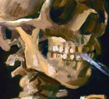 Head of a Skeleton with Lit Cigarette - Vincent van Gogh Sticker