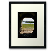 There is a world outside... Framed Print