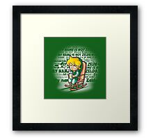 My name is not Zelda Framed Print