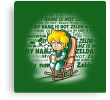 My name is not Zelda Canvas Print
