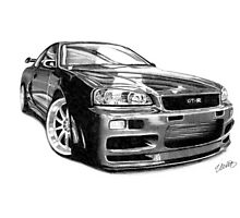 GT-R Nissan Skyline Photographic Print