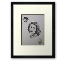 """"""" My mother at age 4, 21 and 85 Framed Print"""