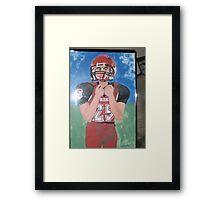 """ MY grandson Alex on HS football team "" Framed Print"