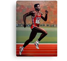 Carl Lewis painting Canvas Print